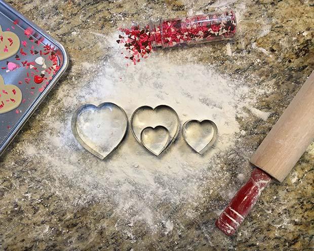 Love Heart Cookie Cutter Pregnancy Announcement