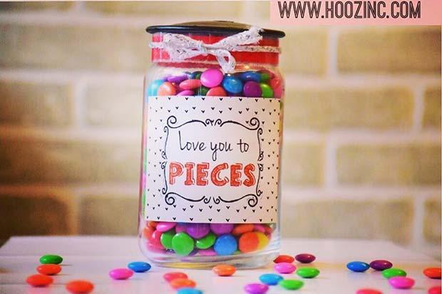 DIY Love You To Pieces Gift Idea