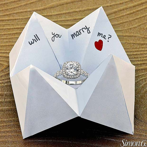 Origami Wedding Proposal Idea