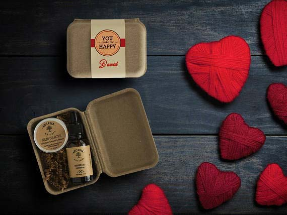 Personalized Valentine's Beard Oil and Cologne Gift
