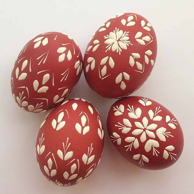 Pretty Painted Easter Eggs
