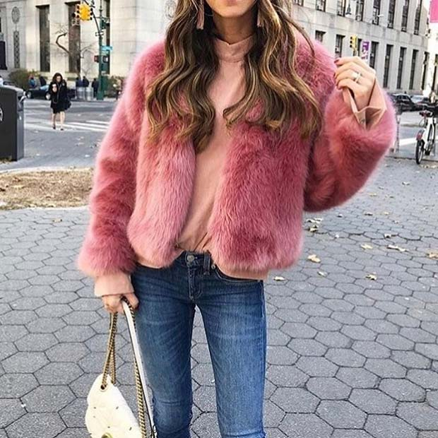 Relaxed Pink Casual Outfit