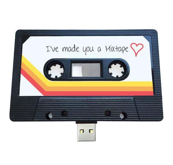 Retro USB Mixtape Gift Idea