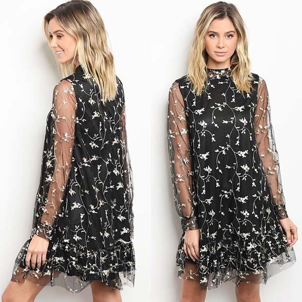 Romantic Dress Outfit Idea