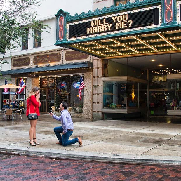 Unique Cinema Wedding Proposal