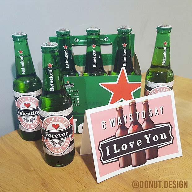 Valentine's DIY Beer Gift Idea