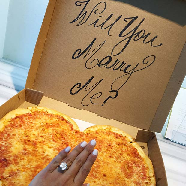 Will You Marry Me Pizza Wedding Proposal