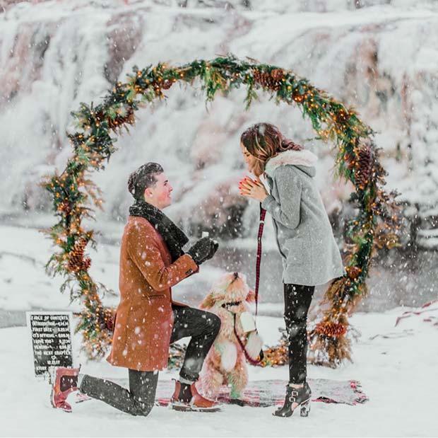 Winter Wonderland Wedding Proposal