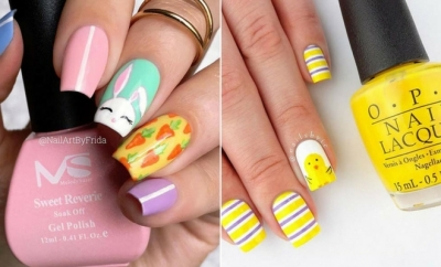 21 Cute Easter Nails
