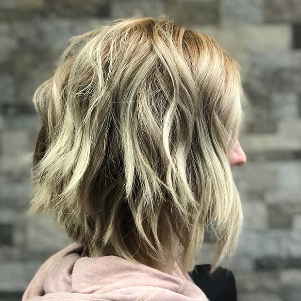 Layered Reverse Balayage Hair