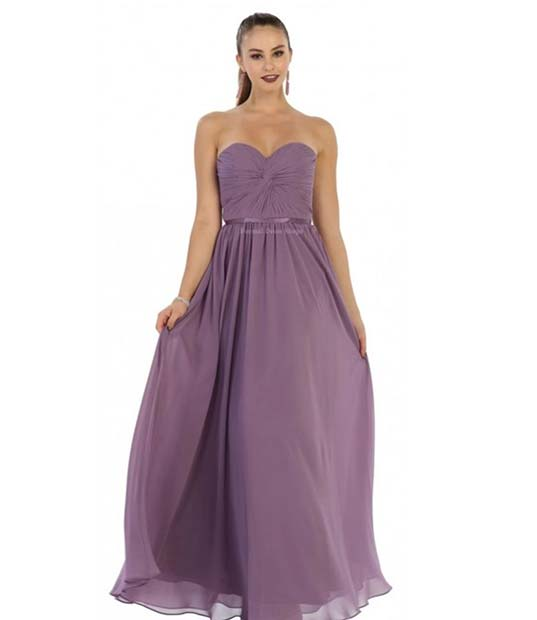 Beautiful Purple Bridesmaid Dress Idea