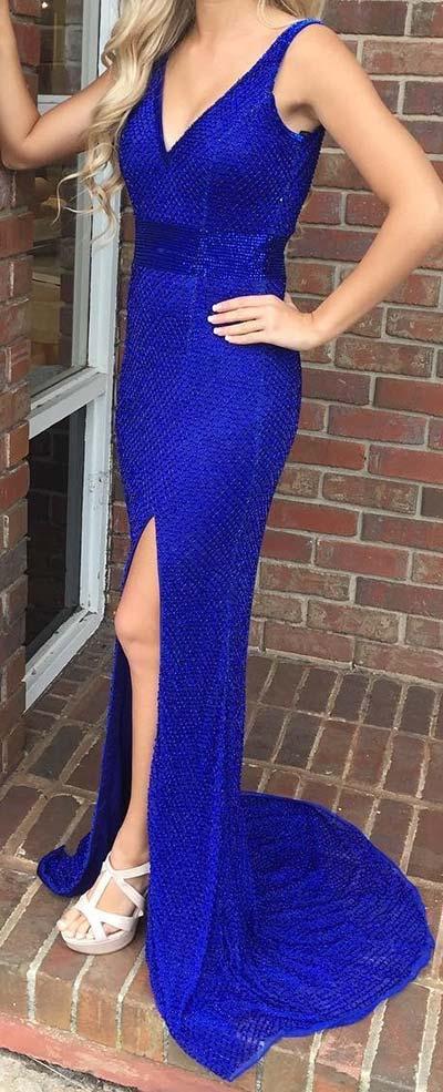 Bold Blue Prom Dress