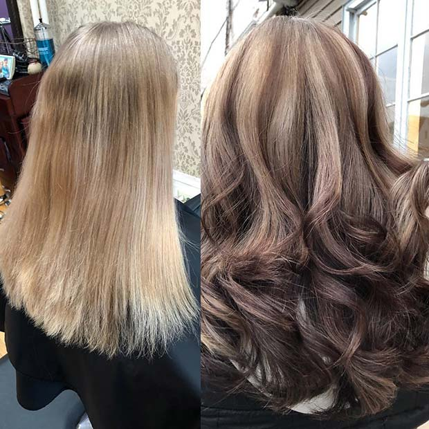 Blonde and Brunette Reverse Balayage