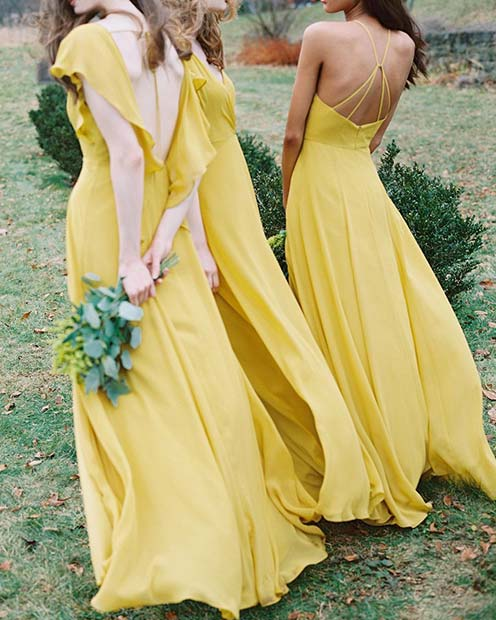 Bold Spring Yellow Dresses