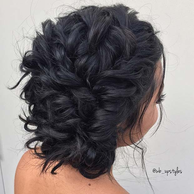 Messy Braided Formal Updo