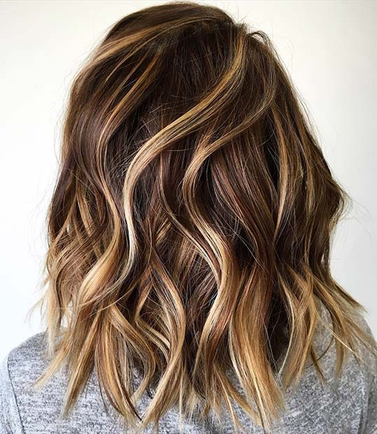 Bronde Lob Hairstyle Idea