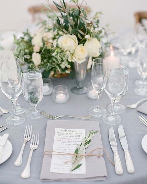 Chic Wedding Table Setting Idea