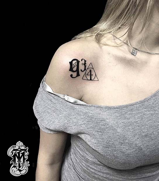 Cool Platform 9 3/4 Tattoo