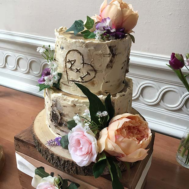 Cute Rustic Wedding Cake