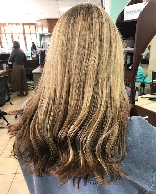 Dark Blonde to Brunette Reverse Balayage