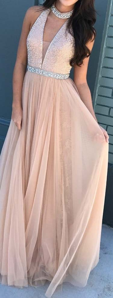 Delicate Long Prom Dress