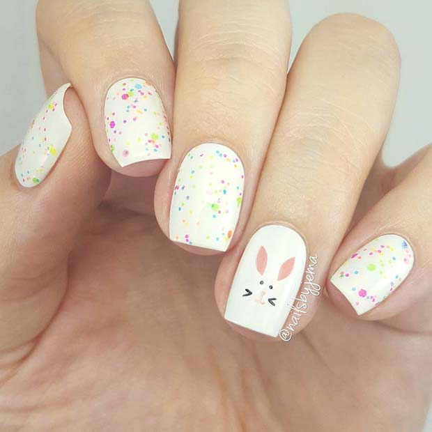 Easter Bunny Nails: 41 Cute Easter Nail Designs For 2019