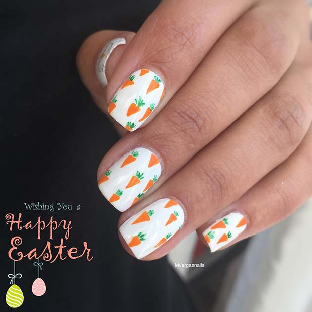 Fun Carrot Nails