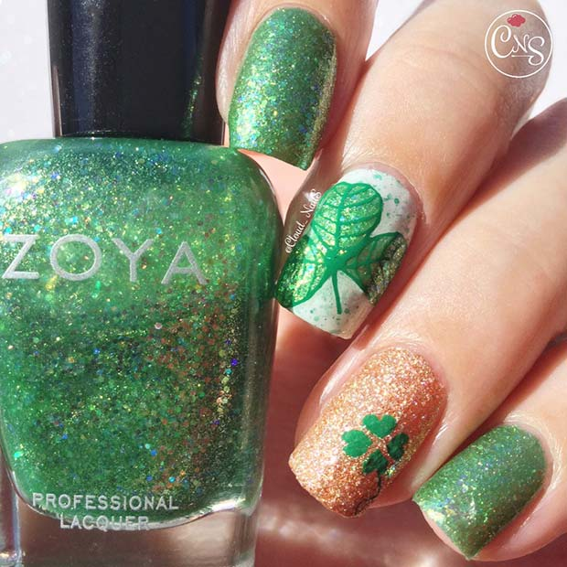 Glam St Patrick's Day Nails