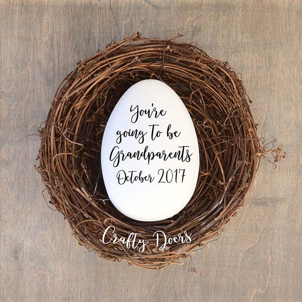 21 easter pregnancy announcement ideas stayglam grandparents easter pregnancy reveal negle Image collections