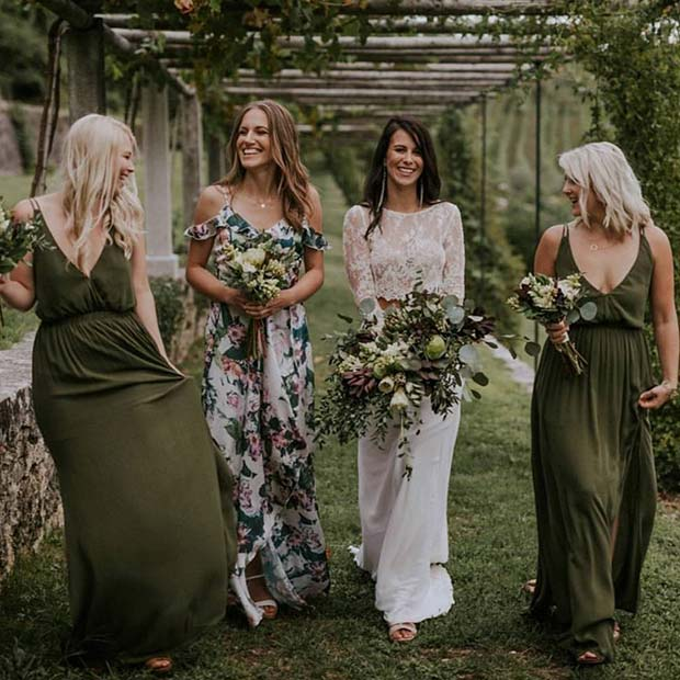 Khaki and Floral Dresses