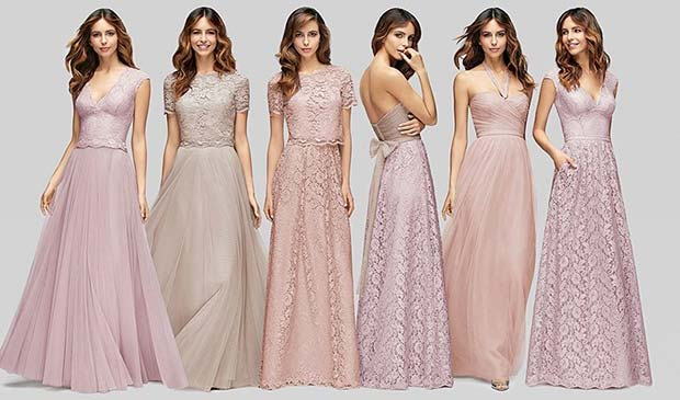 Light and Lacy Bridesmaid Dresses