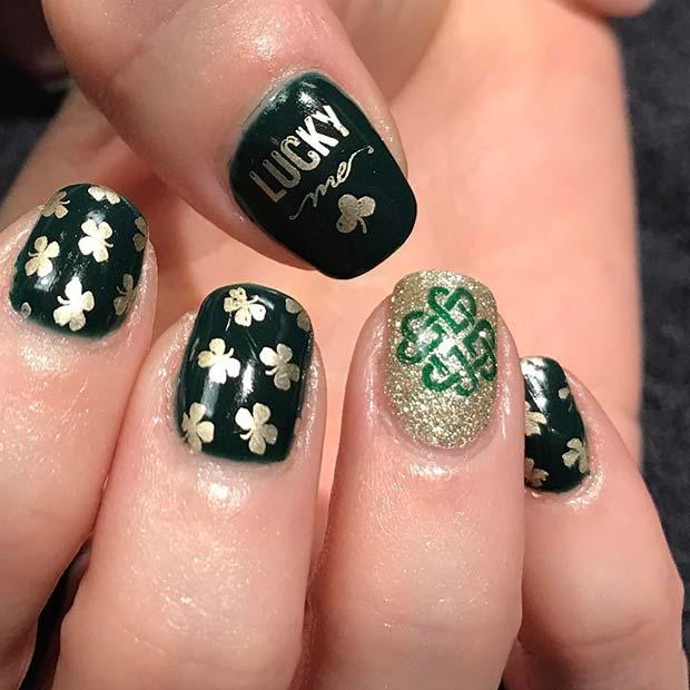 Lucky Clover Nail Art