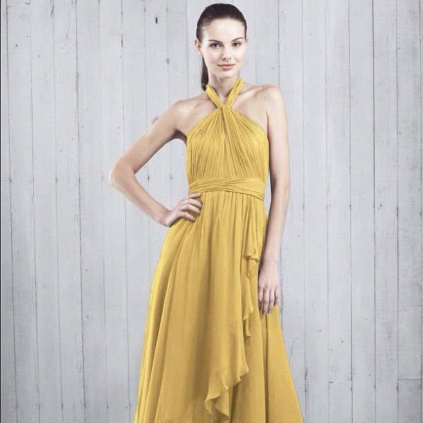 Pretty Yellow Bridesmaid Dress