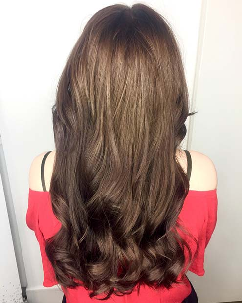 Reverse Brunette Balayage Hair