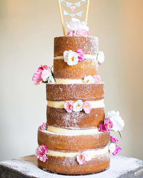 Rustic Spring Wedding Cake Idea