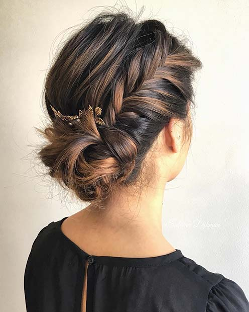 Wedding Hairstyles Side Bun: 25 Best Formal Hairstyles To Copy In 2018
