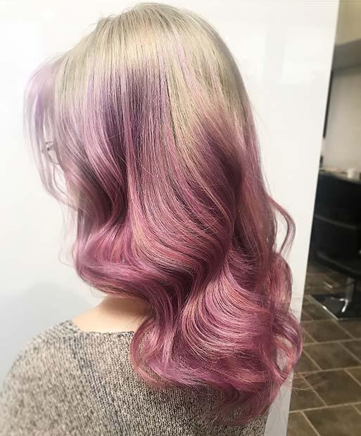 Soft Purple Reverse Balayage
