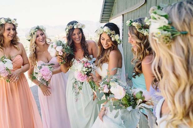Spring Bride and Bridesmaids