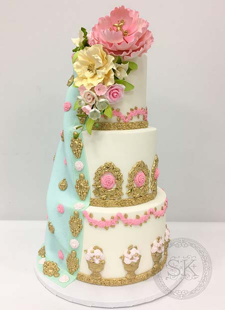 Stunning Three Tier Wedding Cake