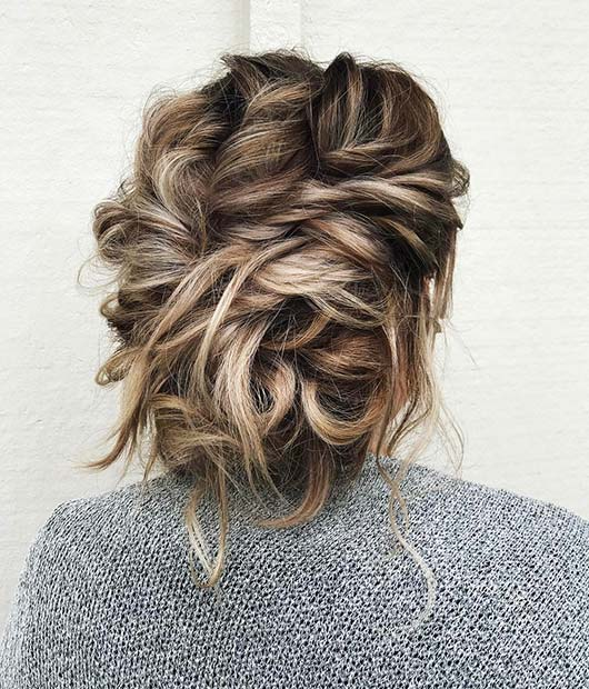 Messy Twisted Updo