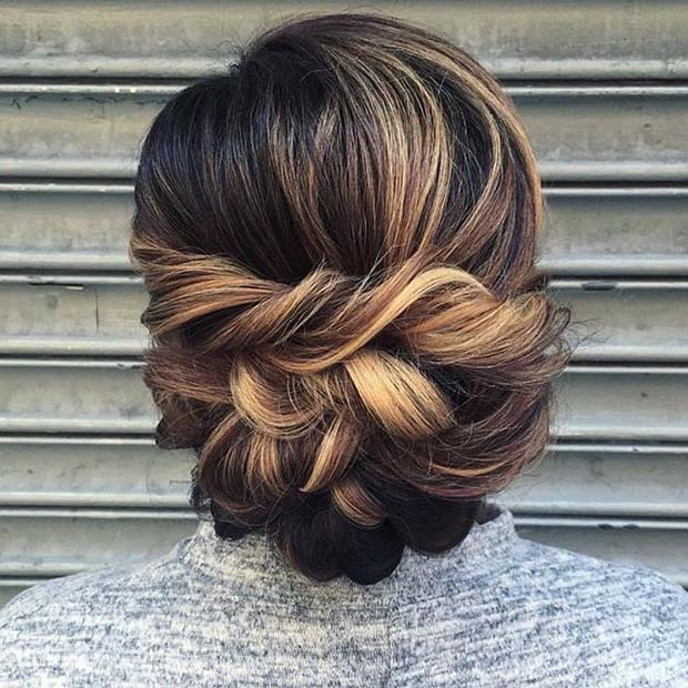 Elegant Twisted Updo