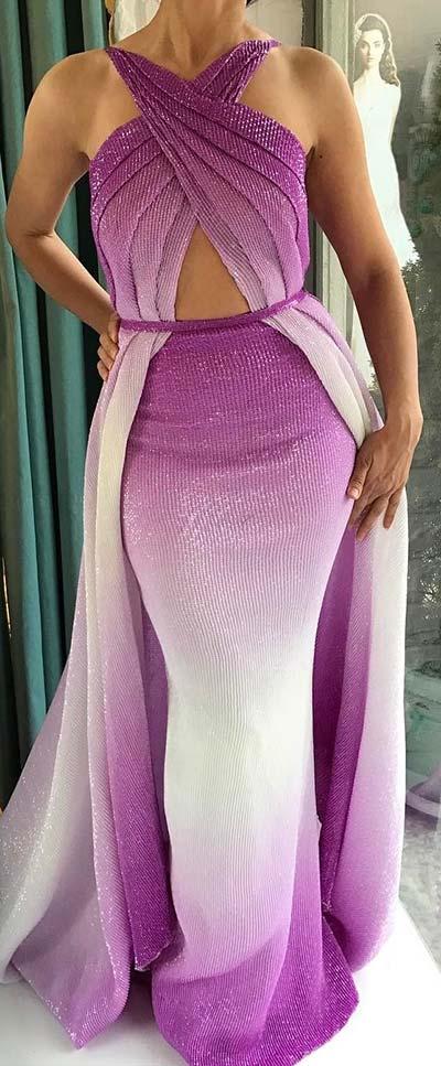 Vibrant Ombre Prom Dress
