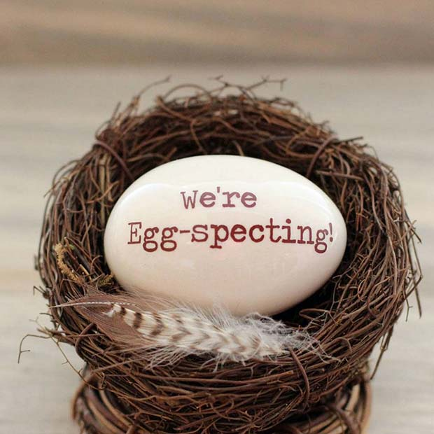 21 easter pregnancy announcement ideas stayglam were egg specting egg negle Image collections
