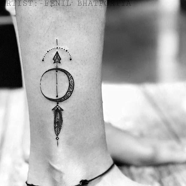 Arrow Tattoo Design for Leg