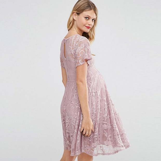 Beautiful Lace Maternity Dress