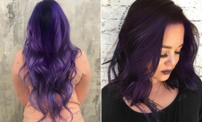 Bold Dark Purple Hair Color Ideas