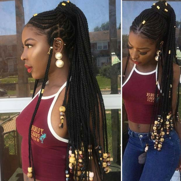 Fulani Braided Ponytail