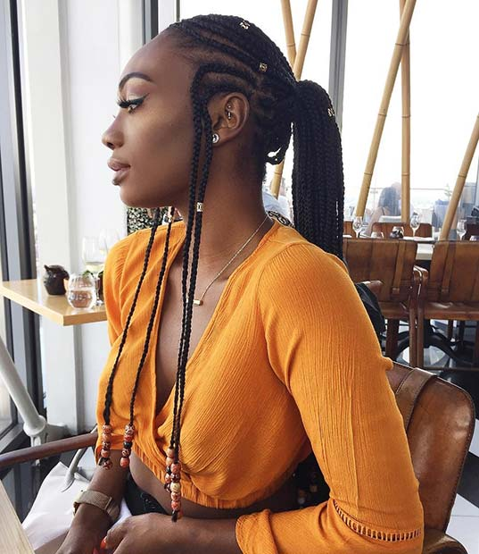 Chic Braided Tribal Ponytail