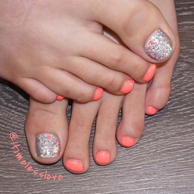 Elegant Spring and Summer Toe Nail Design - 21 Elegant Toe Nail Designs For Spring And Summer StayGlam