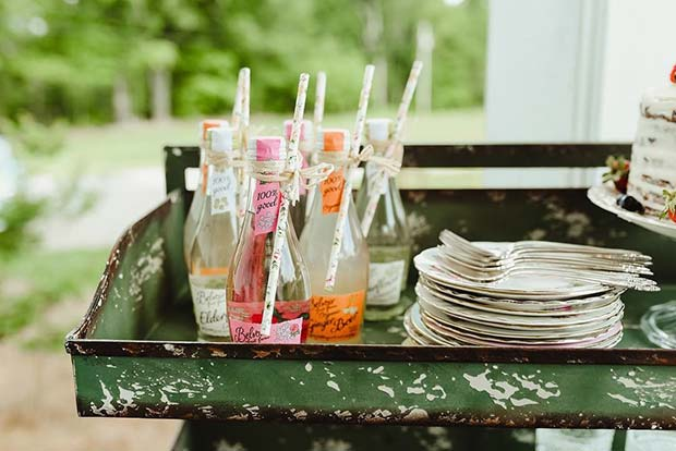 Cute Vintage Wedding Drinks